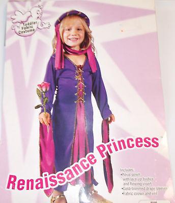 Renaissance Princess Toddler Costume Dress 24 Months-2T 3-4T NIP