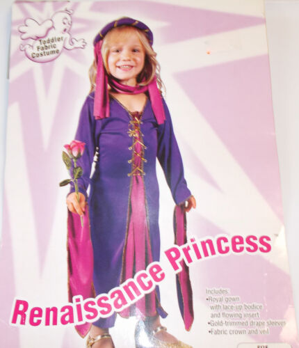 Renaissance Princess Toddler Costume Dress 24 Months-2T 3-4T NIP
