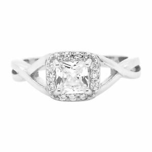 Cushion-Cut-amp-Round-Cz-925-Sterling-Silver-Ring