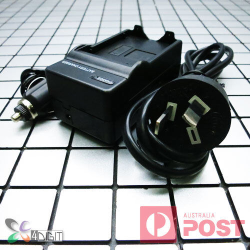 AC Wall Car Battery Charger for Nikon EN-EL19 ENEL19 Coolpix S32 S33 S3300 S3400