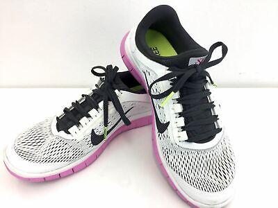 Nike Free 3.0 Shoes 8 White Black Pink