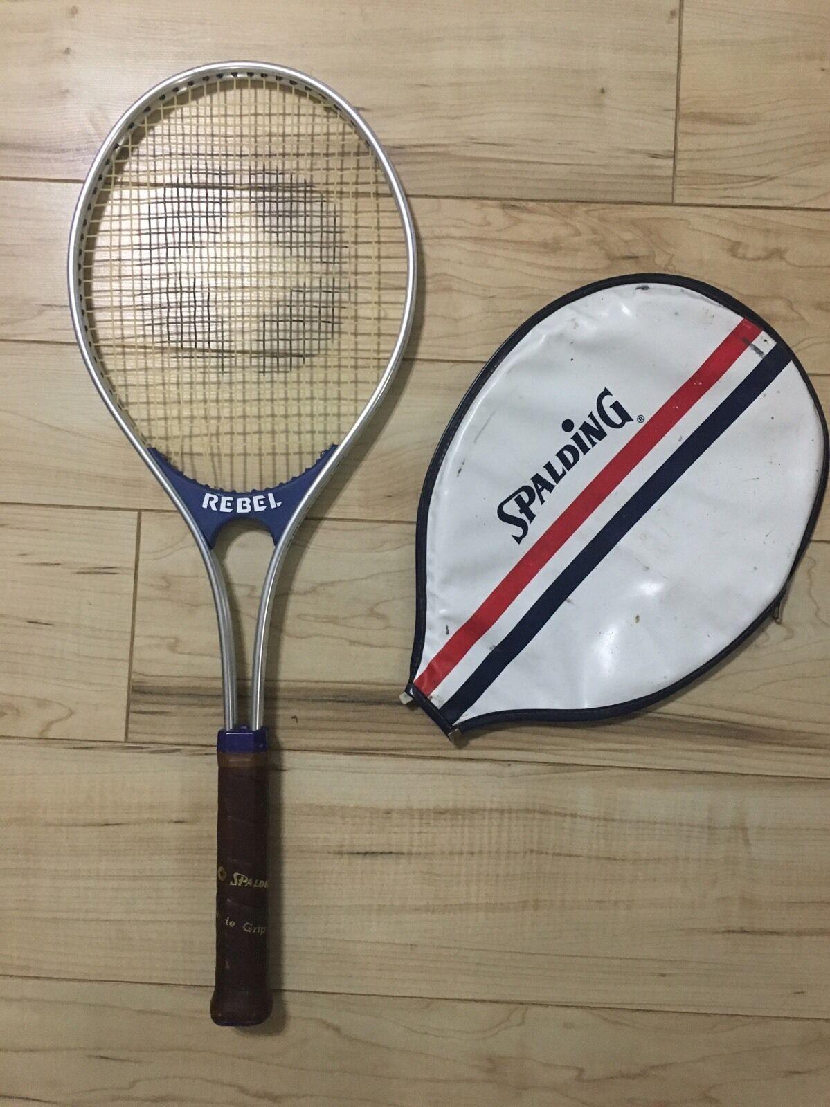 Vintage SPALDING REBEL Tennis Racquet w Original Cover