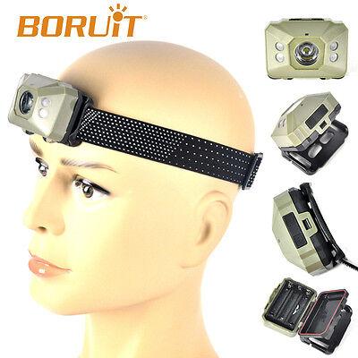 2018 BORUiT COB 5-LED Stirnlampe Helmlampe 3*AA Kopflampe Laufen Jagd headlight