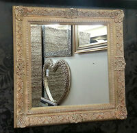 Antique Cream/gold Ornate Vintage Design French Wall Mirror 86x86cm