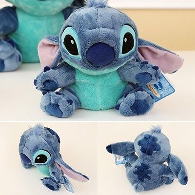"Free Ship BNWT 22cm 8.7"" Sitting Stitch Plush Lilo&Stitch Soft Touch Toy Doll"