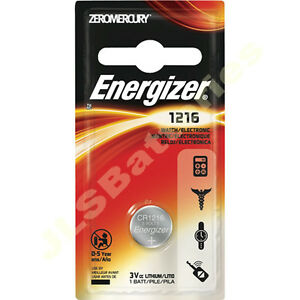 10 x ENERGIZER 1216 Lithium Batteries 3v  CR1216 DL1216 coin cell 3 volts