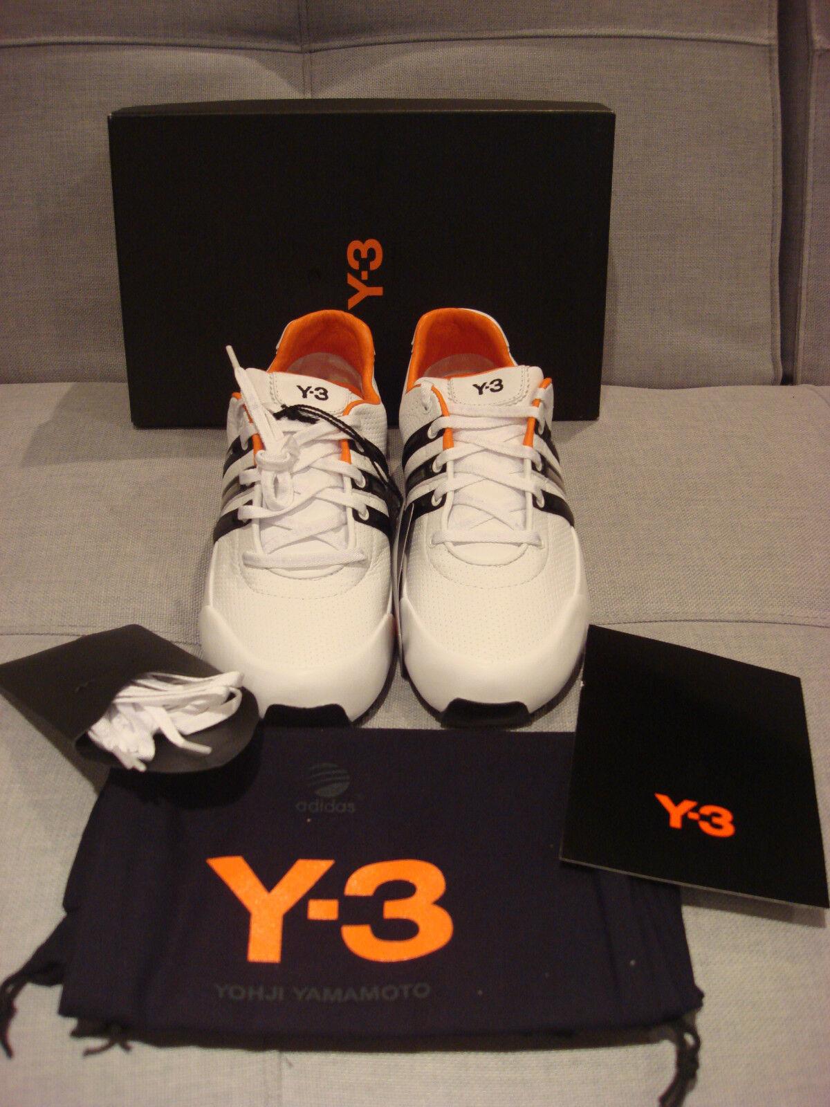 ADIDAS Y-3 YOHJI JAMAMOTO SPRINT CLASSIC Weiß Weiß Weiß schwarz Größe 7 schuhe - BRAND NEW 1320cc