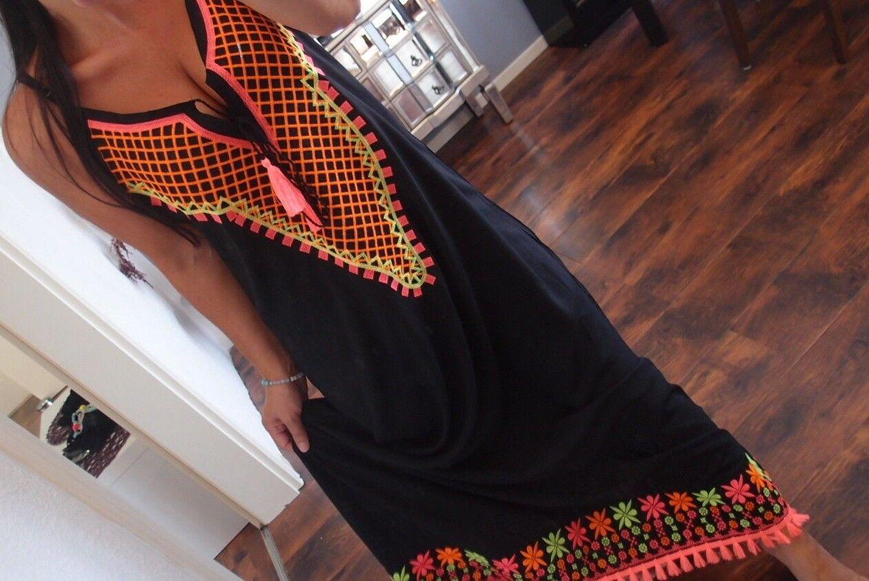 Maxi Kleid Neu 42 44  Bommeln XL BLOGGER Trend Hippie Boho Musthave Vintage