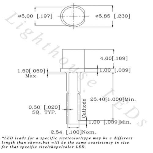 20 x 12v 3mm Flat Top Pre Wired Red LED Wide Angle 13v 14v 15v Prewired Light
