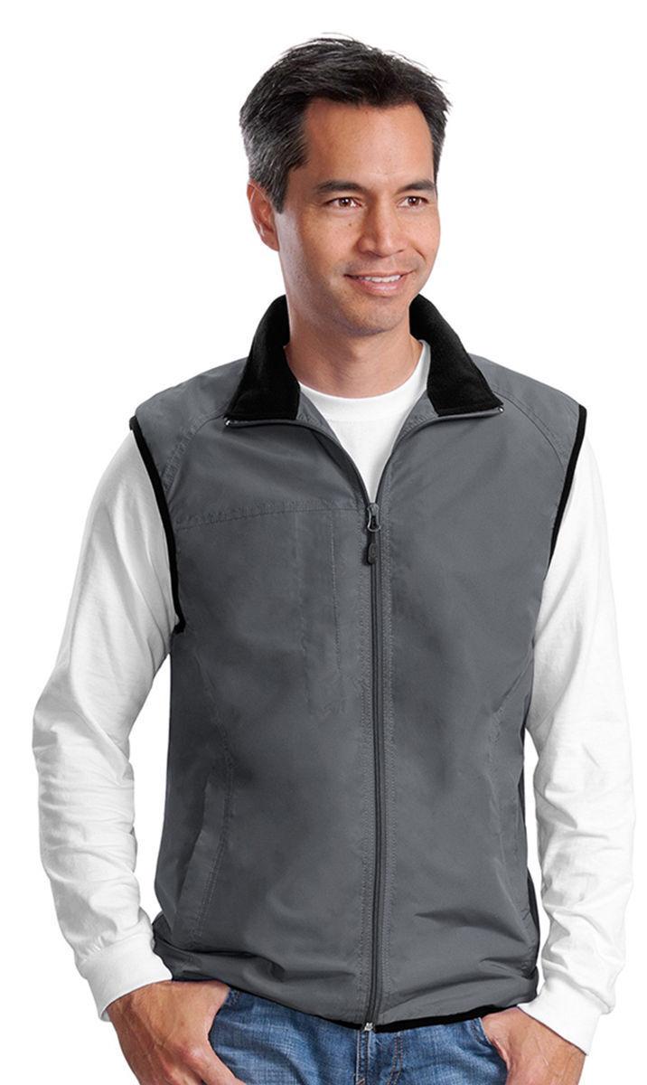 Port Authority Men's Heavyweight Fleece Lining Winter Casual Shell Vest. J355