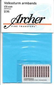 Archer Volkssturm Armbands Dry Transfers 1/35 AR99063