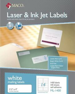 Maco-ML1400-Laser-Ink-Jet-Address-Labels-1-1-3-x-4-034-14-Sheet-1-400-Box