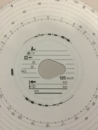 Mercedes-Benz Tachoscheibe100x  für Fahrtenschreiber 125km//h Diagrammscheibe