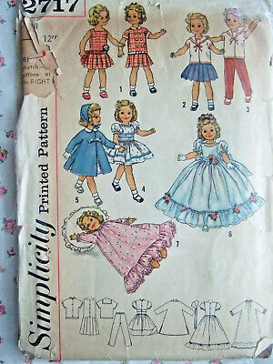 "Leotard Kimono Vtg 1950s 12/"" Shirley Temple Doll Clothes Pattern ~ Party Dress"