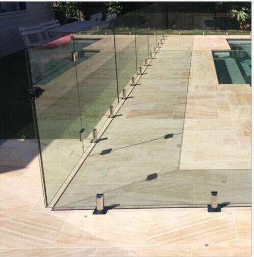 Ablasshahn Square Spigot Zaun Zäune Klemme Rahmenloser Glas Hähne Balustrade DE