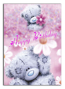c492; Large Personalised Birthday card; Custom made for any name; Roses