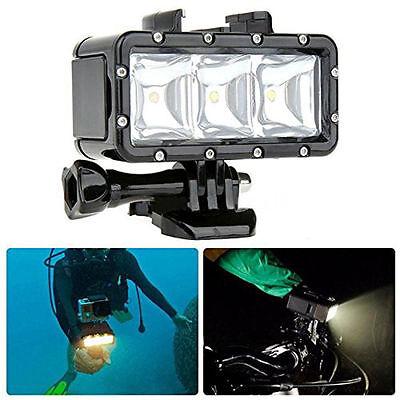 Lampara Foco Flash Luz LED Sumergible Buceo For GoPro Hero 4/3 SJCAM SJ4000 H9R