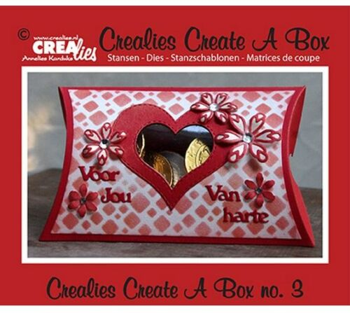 Crealies Create A Box no 3 Kissen box 11 x 18 cm CCAB03 342003