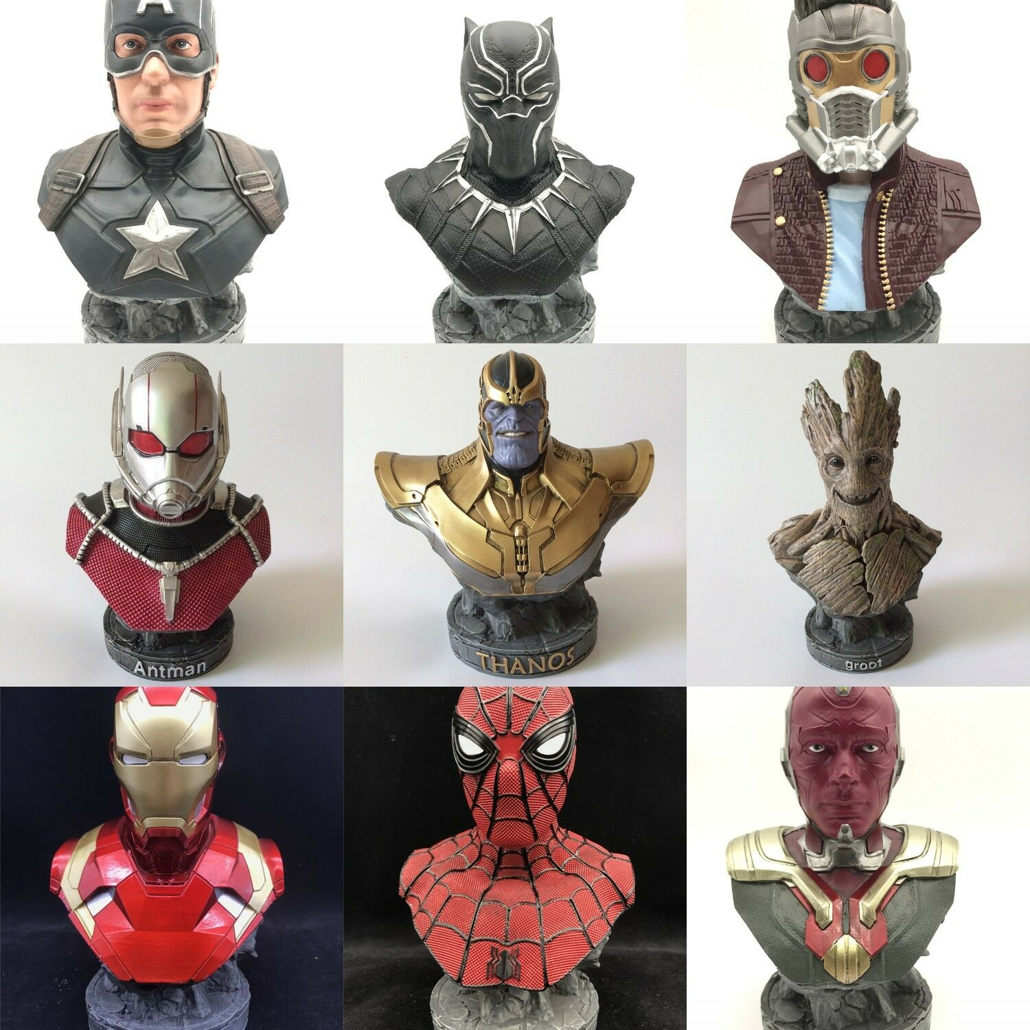 MARVEL COMICS SUPER HERO L'ÉCHELLE 1 4 Buste Statue Figurines de Collection Figure
