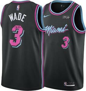Dwyane Wade Miami Heat Autographed Black Nike Vice Nights Swingman Jersey
