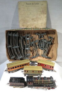 Jep Ancien Train Mecanique Wagons Rails Jouet Locomotive J De P Paris