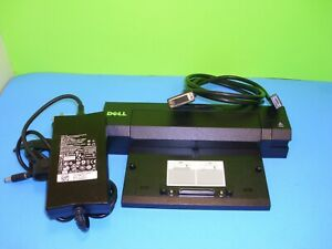 DELL-E-Port-Plus-II-Replicator-0PKDGR-w-USB-3-0-amp-OEM-130W-AC-amp-Display-Port-Cable
