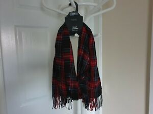 Scarf-Next-Red-Navy-Black-Mix-Colour-Length-1-60-m-New-With-Tags