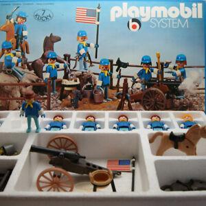 Boite-Cavalerie-Tuniques-Bleues-Far-West-PLAYMOBIL-3408