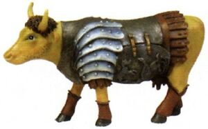 Cow-Parade-2002-GLADIATOR-MINIATURE-FIGURINE-7573-New-in-Box-amp-Hard-to-Find