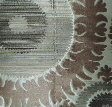 DONGHIA Suzani Central Asian Ivory Innocence Silk Viscose Polyester New Remnant