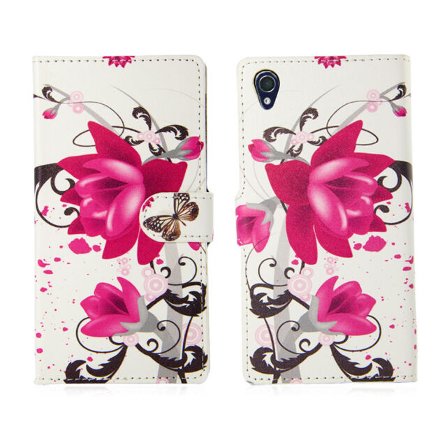 NEW PU LEATHER FLIP WALLET CASE COVER FOR Sony Xperia Z1/Z2/Z1 Compact +Film