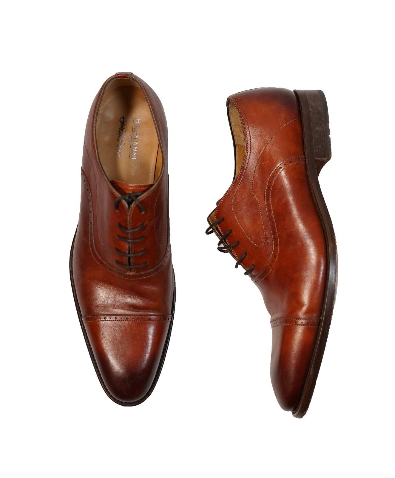 8 + Tax MAGNANNI For SAKS FIFTH AVENUE- Brown Cap-Toe Oxfords - 12 Scarpe classiche da uomo