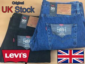 Levi-039-s-501-Men-039-s-Original-Fit-Denim-Jeans-Vestibilita-Normale-Per-Da-Uomo-Blu-amp-Nero