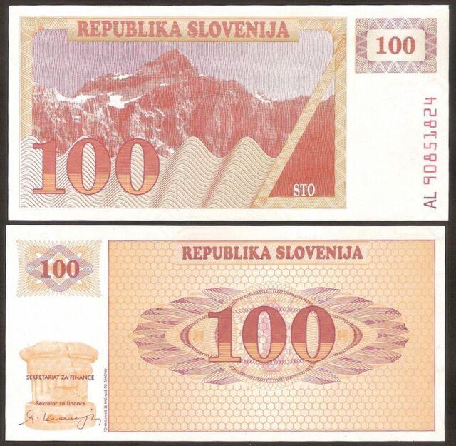 SLOVENIA 100 Tolarjev 1990  - UNC  - Pick 6