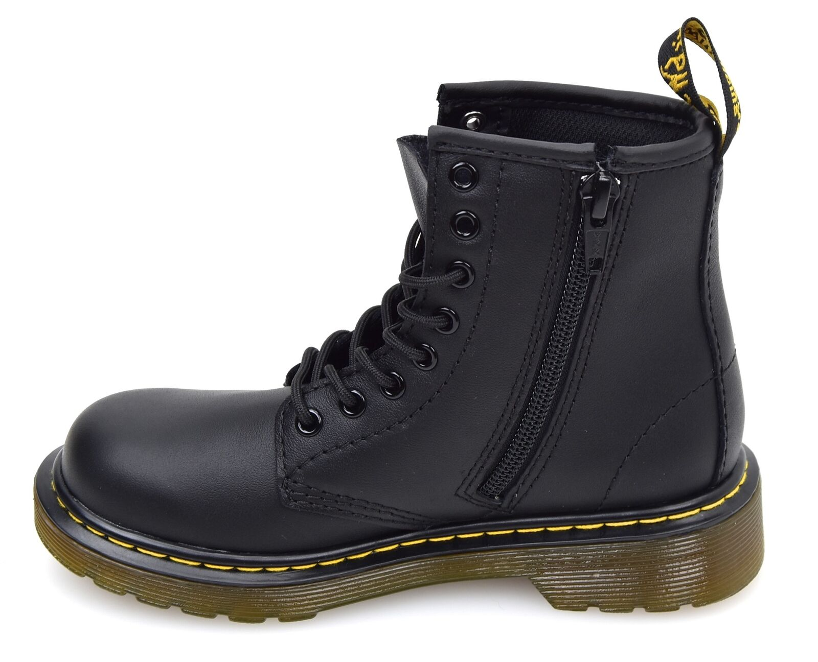DR. MARTENS JUNIOR BOY ANKLE BOOTS BOOTIES LEATHER CODE DELANEY BROOKLEE B