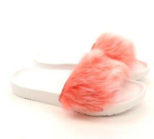 35231ef8c37 Details about UGG Australia Royale Coral White Fluffy Sheepskin Sandals  Slides US 8 NEW!