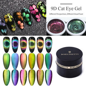 BORN-PRETTY-9D-Magnetic-Cat-Eye-Gel-Polish-Traenken-Sie-UV-Gel-Nail-Art-Lack-5ml