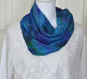 Silk-Soft-Turquoise-Blue-Green-Color-Tie-and-Dye-Scarf