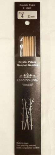 Crystal Palace Bamboo Double Point Knitting Needles 8 inch Size 4-3.5mm Japan