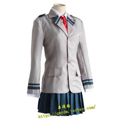 Boku No Hero Academia Ochako Uraraka Asui Tsuyu School Uniform Cosplay Costume