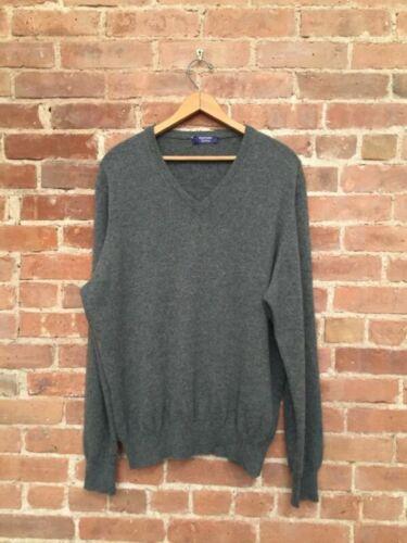 Gran Sasso Men's Pure Cashmere V Neck Sweater, Sz