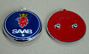 Saab-95-9-5-Estate-1998-2005-Trasero-Porton-Arranque-Insignia-Emblema-5289921-Azul-Nuevo