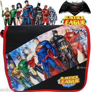 8913dcc08ce3 Batman Superman Justice League Messenger School Bag New Gift ...