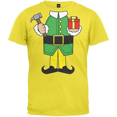 Elf Body Yellow Costume Adult Mens T-Shirt
