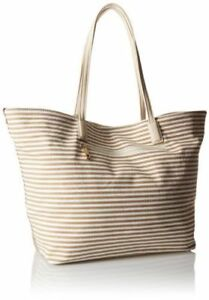 Call It Spring Womens Viano Shoulder Handbag Tote Natural Stripe And ... 74b8a422c6045