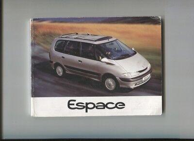 Renault Espace 2.0 , V6 , 2.2 Dt Notice D'entretien Avril 1997