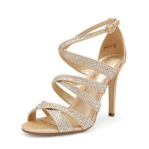 DREAM PAIRS Women's Stilettos  High Heel Sandals Open Toe Dress Pump Sandals