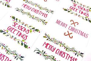 Joyeux joyeux noël autocollants étiquettes pour cartes enveloppes /& festif craft X50302