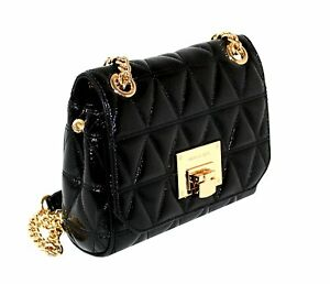 a313c048bf Image is loading Michael-Kors-Vivianne-Quilted-Patent-Leather-Small-Shoulder -