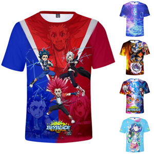 Beyblade-Burst-Evolution-Anime-Men-Tops-Short-Sleeve-Casual-T-Shirt-3D-Print-Tee
